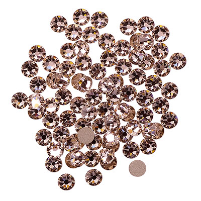 Swarovski flat back strass, 3-3.2mm, vintage rose