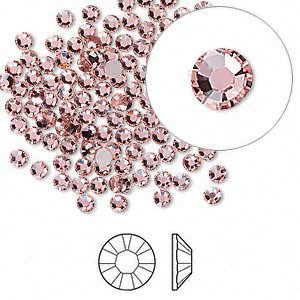 Swarovski flat back strass, 2.5-2.7mm, vintage rose
