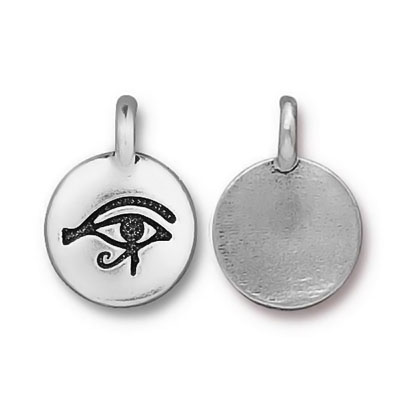 TierraCast berlock Eye Of Horus, 11.7x16.5mm, silverpläterad