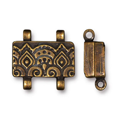 Temple magnetic clasp, 10x17mm, bronsfärgat